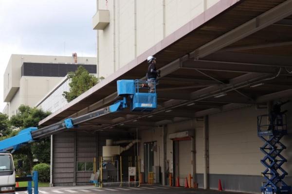 大型製造工場の防鳥工事|京都市伏見区 イメージ