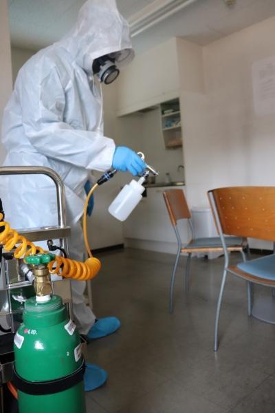 新型コロナウイルスの消毒作業|京都府京都市 イメージ