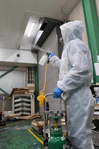 新型コロナウイルスの消毒作業|京都府京都市スライダー2