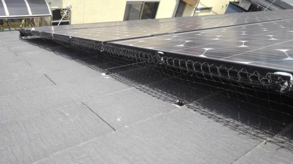 太陽光パネルの防鳥工事|滋賀県草津市スライダー3