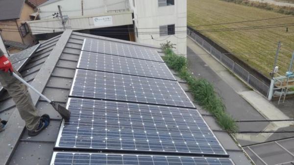 太陽光パネルの防鳥工事|京都市伏見区 イメージ