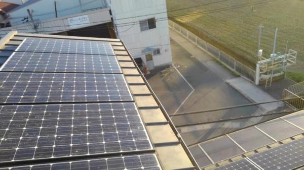 太陽光パネルの防鳥工事 京都市伏見区スライダー2