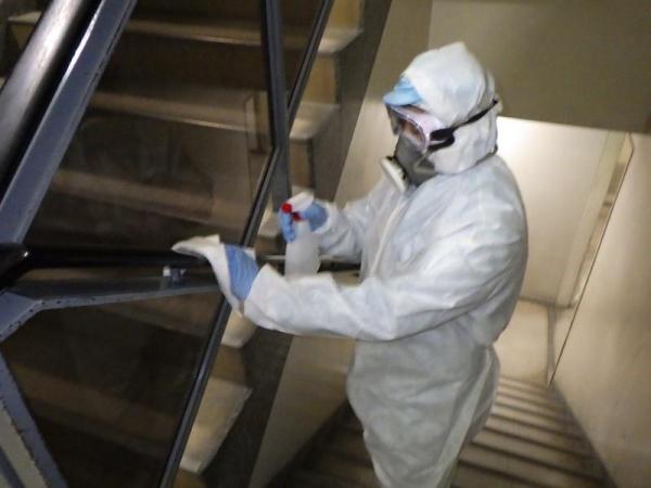 新型コロナウイルス消毒作業 イメージ