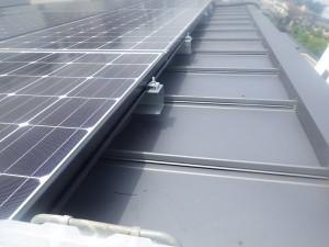 太陽光パネル 防鳥工事 イメージ
