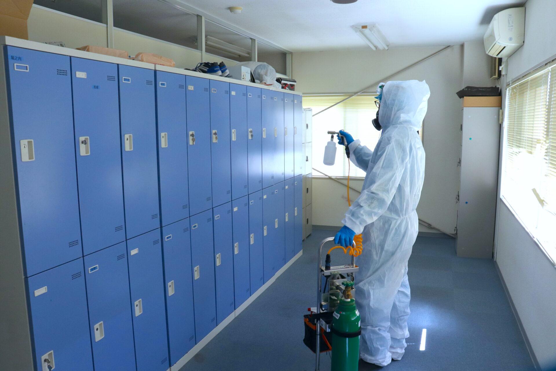 新型コロナウイルス感染症の消毒 イメージ