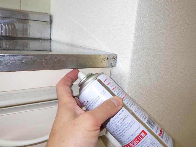 賃貸マンションの害虫防除作業 イメージ