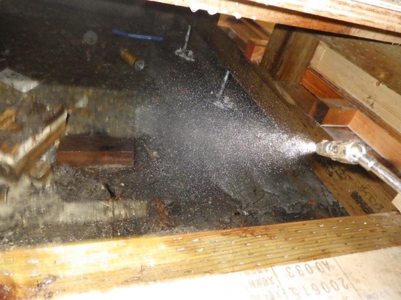 店舗付き住宅の白蟻駆除作業|京都市右京区スライダー3