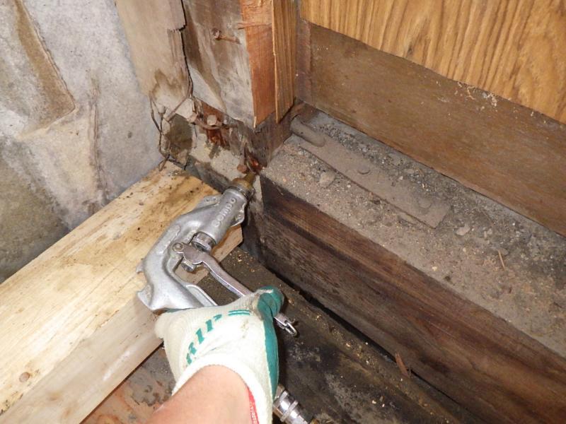 店舗付き住宅の白蟻駆除作業|京都市右京区スライダー6