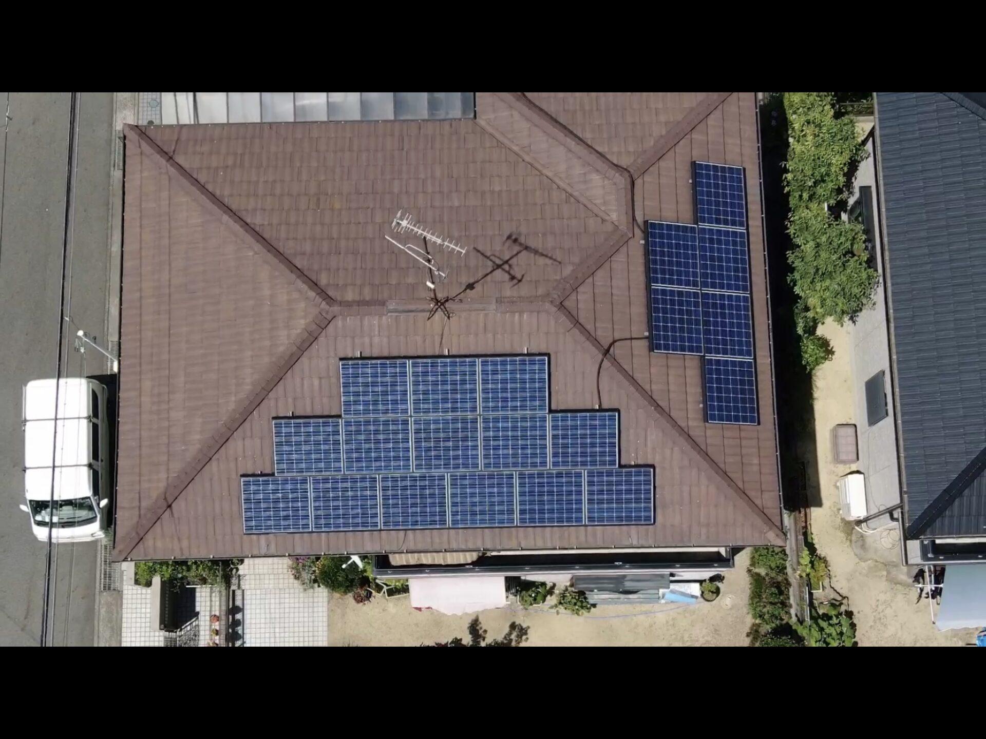 太陽光パネルのハト対策 守山市スライダー4