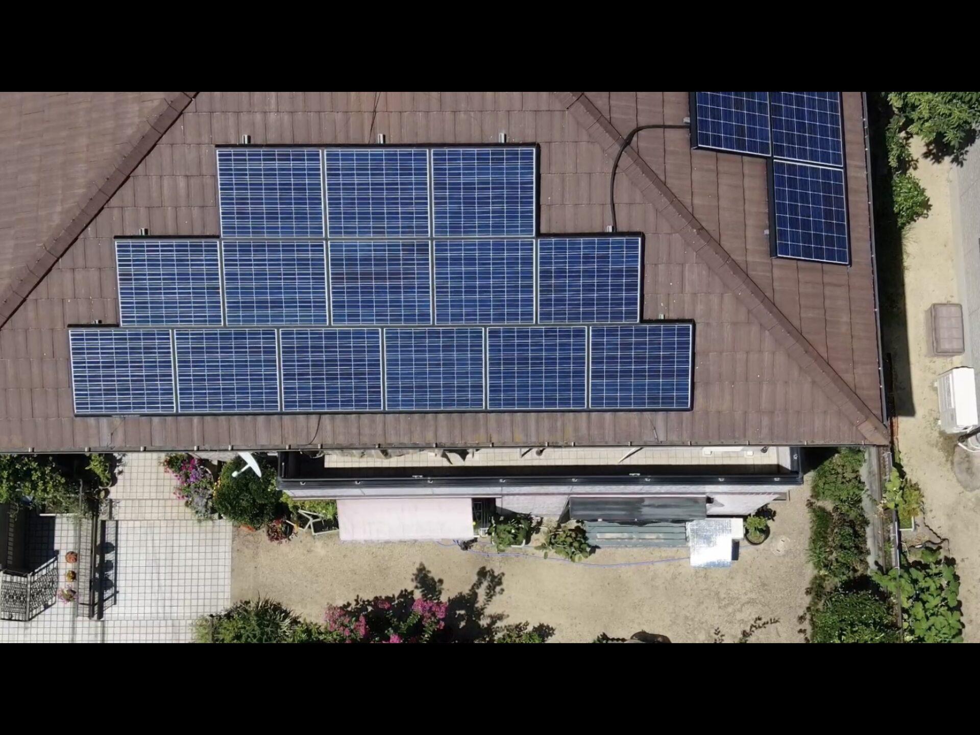 太陽光パネルのハト対策 守山市スライダー3